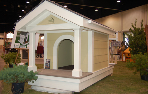 Dog House built using green building practices for Humane Society Auction